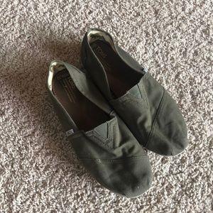 TOMS Green Canvas Original Shoes